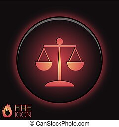icon of the scales of justice . symbol of justice