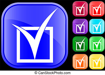 Icon of tick in checkbox