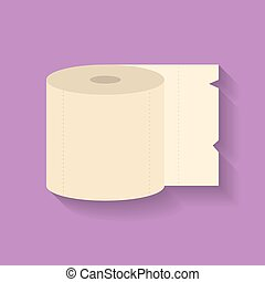 Icon of Toilet paper. Flat style