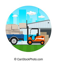 Icon of Transportation Services and Storage