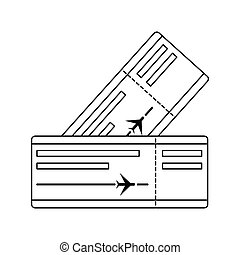 Icon of two airplane tickets