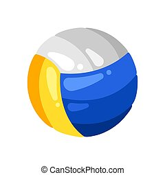 Icon of volleyball in flat style.