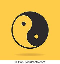 Icon of Yin Yang symbol