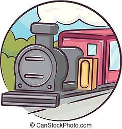 Icon Old Train Illustration
