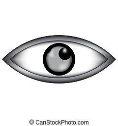 icon., olho, sinal