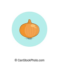 Icon onion , vector illustration
