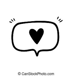 Icon or sign of a heart or the like.