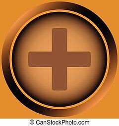 Icon orange plus