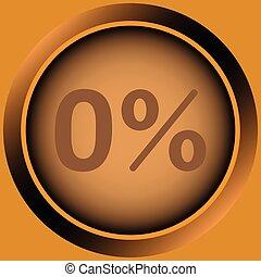 Icon orange zero percent