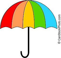 icon., parapluie, coloré