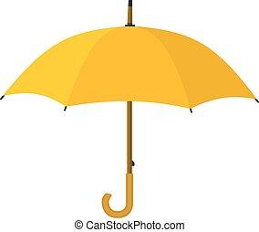 icon., parapluie, jaune