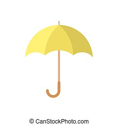 icon., parapluie, vector.
