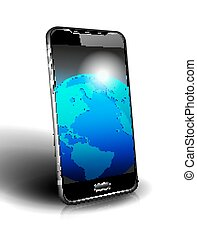 Icon Phone Cell Smart Mobile World