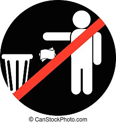 icon please keep to bin - Do not throw away the trash bin...