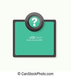 icon., point interrogation