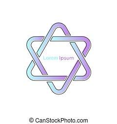 icon., potrójny, zjednoczenie, łańcuch