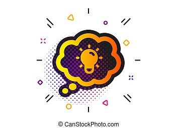 icon., power., energi, lightbulb, vektor, tegn., elektriske