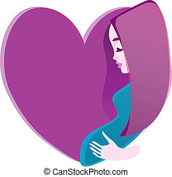 Icon - Pregnancy - Pregnant woman holding her belly