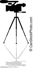 professional camera on a tripod - Icon professional camera...