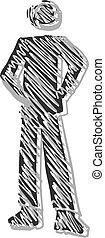 Creative design of icon puppet
