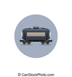 Icon railway car the tank for transportation freights,...