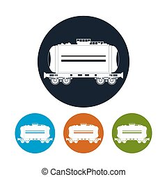 Icon railway car the tank , vector illustration - Icon...