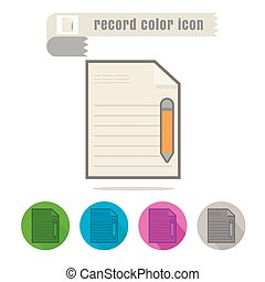 icon Record color on white background