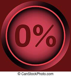 Icon red zero percent
