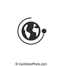 icon., rotation, autour de, vecteur, temps, illustration, ...