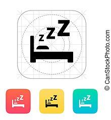icon., säng, sova