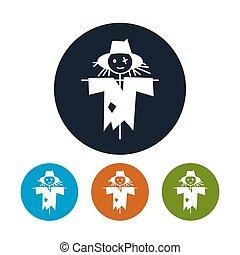 Four Types of Round Icons Scarecrow