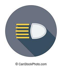 icon., scheinwerfer