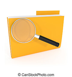 Icon Search Folder with Magnifying Glass