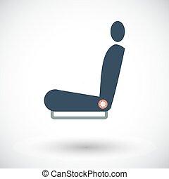 Icon seat. - Seat. Single flat icon on white background....