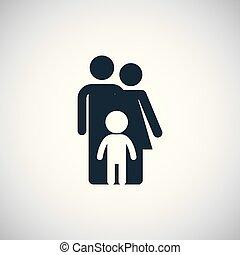 icon., seguro, família
