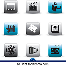 Icon series 12 - film and movie - Icon set from a series in...