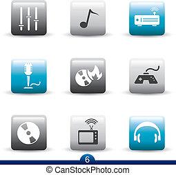 Icon series 6 - entertainmen - Icon set from seies in my...