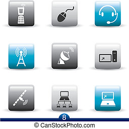 Icon series 8 - communication - Icon set from a series in my...