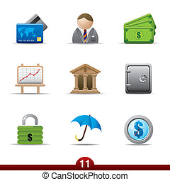 Finance icon set from a series in my portfolio.