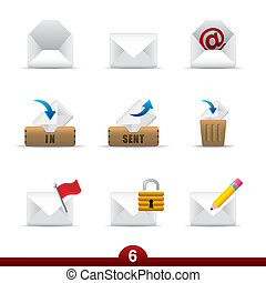 Mail icon set from a series in my portfolio.