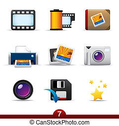 Icon series - photography - Photography icon set from a ...