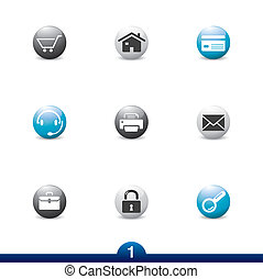Icon series - web universal - Web universal icons from a...