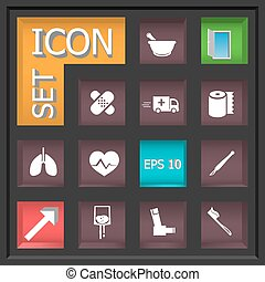 Icon set - Abstract creative concept vector set of...