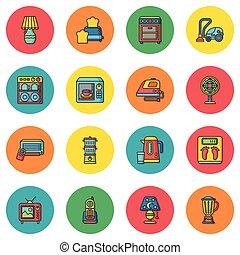 icon set appliances