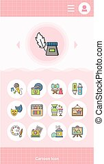 icon set art vector