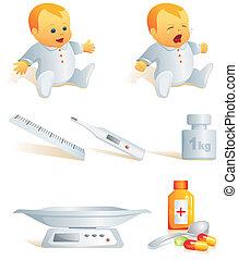 Icon set - baby health