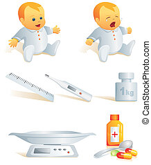 Icon set - baby health