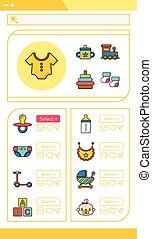 icon set baby vector