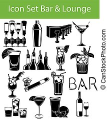 Icon Set Bar & Lounge