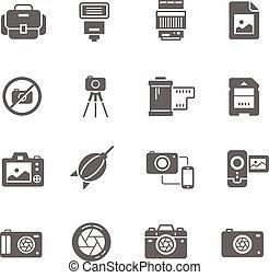 Icon set - camera and accessory
